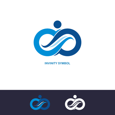 infinity symbol icons logo set. Vector illustration.