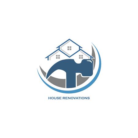 House renovation icon illustration on white background.
