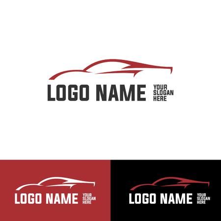racing red car logotype