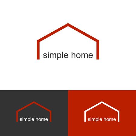 simple icon for rea estate company Illustration