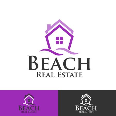 Beach real estate symbol design