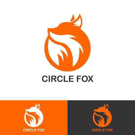 SIMPLE CIRCLE FOX ICON LOGOTYPE