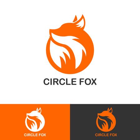 LOGOTYPE SIMPLE CIRCLE FOX ICON
