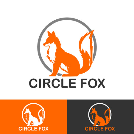 SMART FOX AND CIRCLE ICON LOGOTYPE