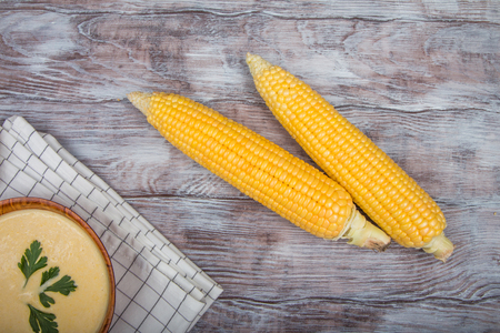 Sweet corn and corn soup