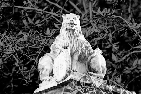 mystical stone lion