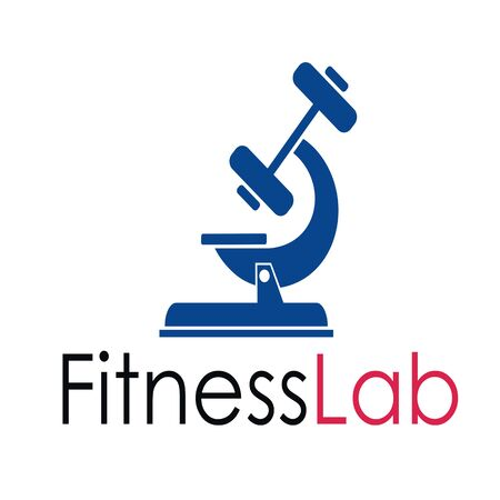 fitness lab logo design Illustration