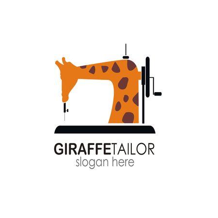 giraffe tailor logo design