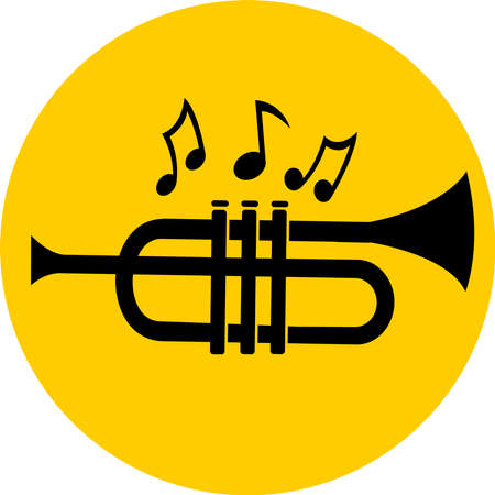 trumpet icon. musical instrument sign vector