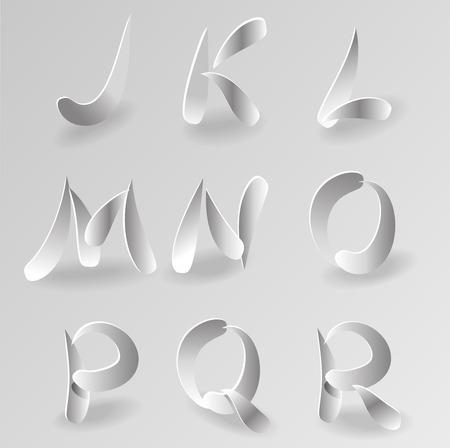 papier a lettre: Vecteur Livre blanc Lettre Graphic Alphabet Set