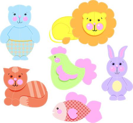 Vector illustration  baby icons set cartoon toys Vector