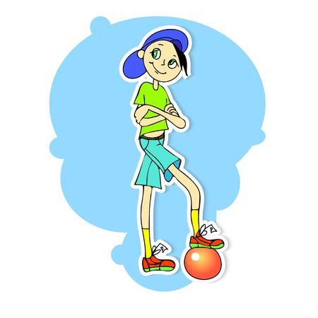 illustration of a boy on a blue background Illustration