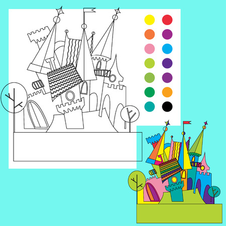 for children:  Coloring book for children Illustration
