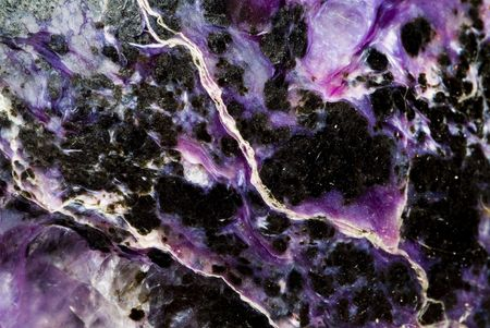 natural marble charoit panel, texture background photo