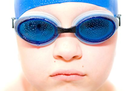 young swimmer. Isolation on white. Stock Photo - 1018000