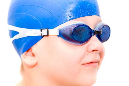 young swimmer. Isolation on white.  Stock Photo - 1018330