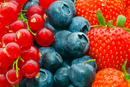 Currant, blueberry, strawberry - background Stock Photo - 1125610