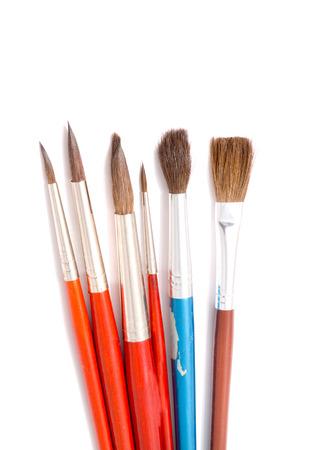 Brushes art. Isolation on white photo
