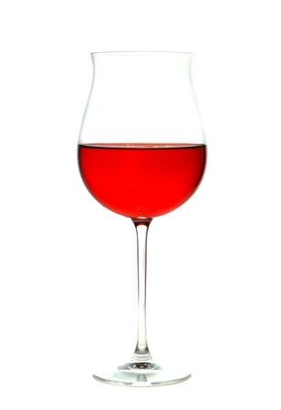 Wine in a glass. Isolation on white Stock Photo - 1851880