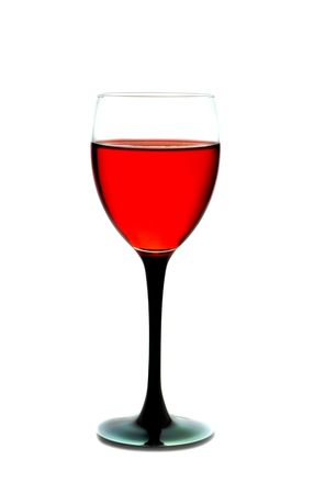 Wine in a glass. Isolation on white Stock Photo - 1851881