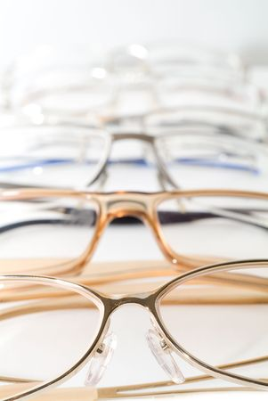 Glasses. On a white background isolation. Stock Photo