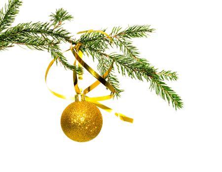 Christmas ornaments. Isolation on white. Stock Photo