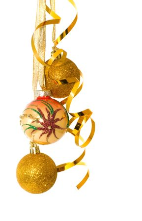 Christmas ornaments. Isolation on white. Stock Photo