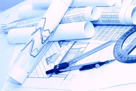 vellum: Business accessories on a background of diagrams Stock Photo