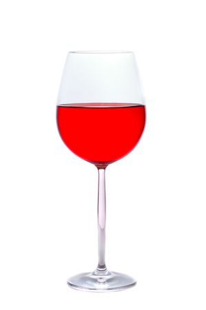 Glass of wine on a white background Stock Photo - 2684707