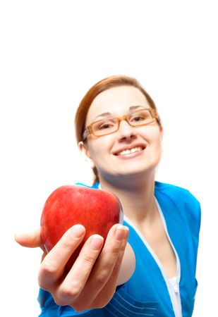doctor the girl with an apple. Stock Photo - 2756478