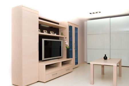 Interior of a room with the TV Stock Photo - 3215203