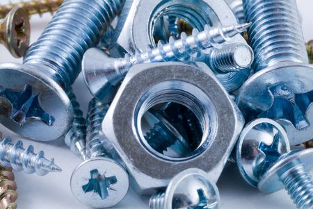 Bolts, screws, nuts Stock Photo - 3227987