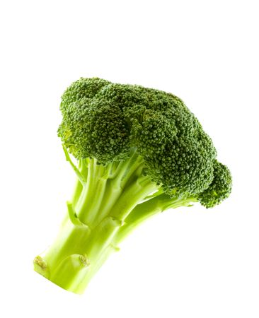 broccolli: Fresh green vegetables, isolated on white Stock Photo