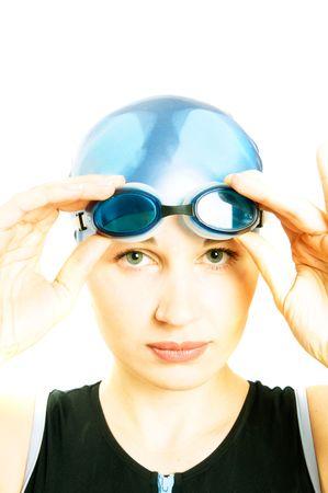 risky: girl in glasses for pool
