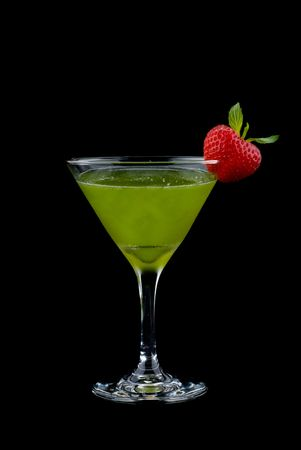 Cocktail drink on fruit  isolated photo