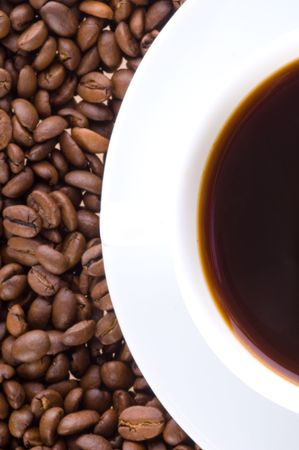 Coffee cup and grain  Stock Photo - 3878816