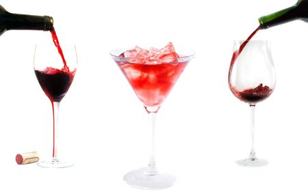 Red wine pouring a wine bottle Stock Photo - 3878813