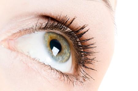 bloodshot: Human eye  Stock Photo