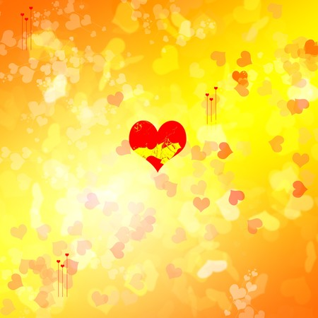 valentine pattern red small heart Stock Photo - 4065019