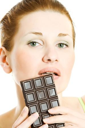 satisfying: Satisfying a chocolate craving Stock Photo