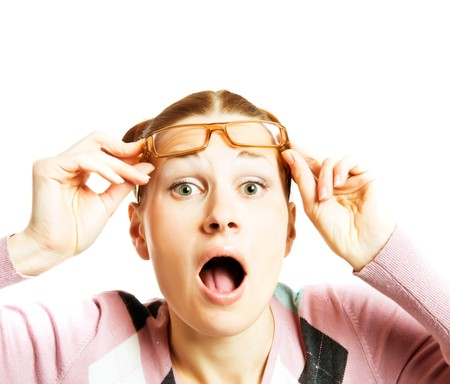 Woman Wearing Glasses Stock Photo - 4241666
