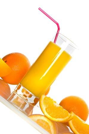 Fresh juice in assortment with fruit Stock Photo - 4333624