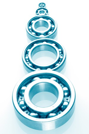 concision: metall Ball bearings - industrial design Stock Photo