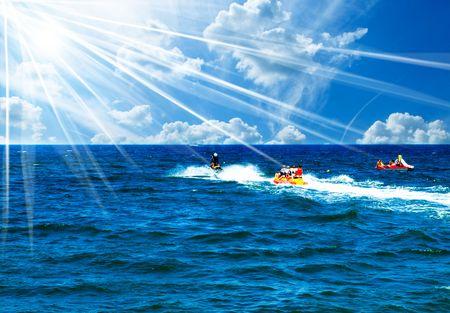 fantastische actie, geweldige waternevel