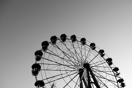 Popular attraction in park - a Ferris wheel on a background Stock Photo - 4772950