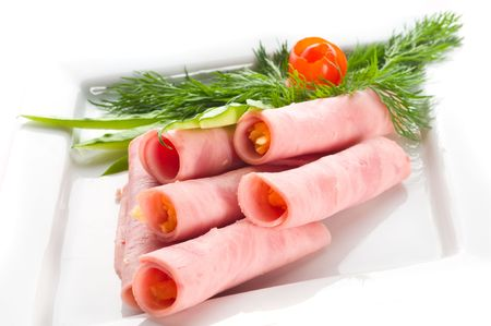 Meat allsorts with vegetables Stock Photo - 4847699