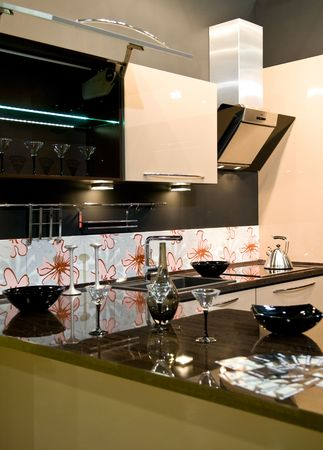 Design of classical modern kitchen Stock Photo - 4895155