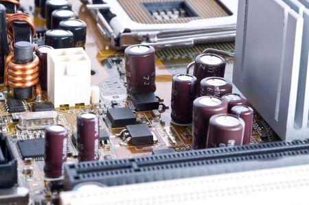 componentes: circuito macro superficie vista frontal Foto de archivo