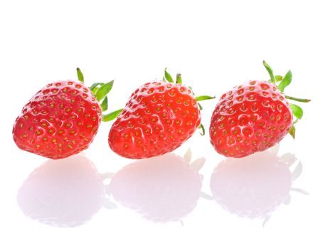 fresh strawberry on isolated photo