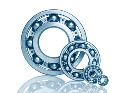 metal bearing on white isolated photo